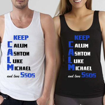 funny shirt Keep Calm 5sos,5sos shirt,5 second of summer, tank top,available for tanktop mens and tank top woman