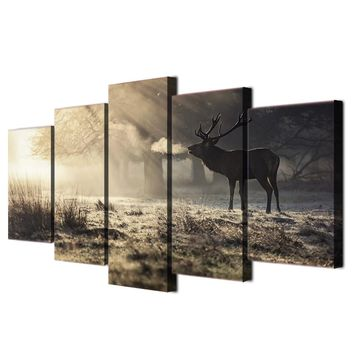 HD Printed Winter deer Painting on canvas room decoration print poster picture