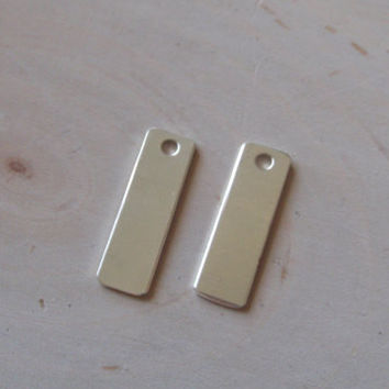 1 pc 18 gauge sterling silver tags , 5/16 inch by 1 1/4 inch rectangle stamping blanks