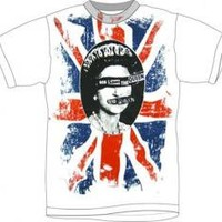 Sex Pistols, T-Shirt, God Save The Queen, Distressed White