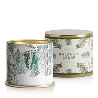 Balsam and Cedar Large Tin Candle