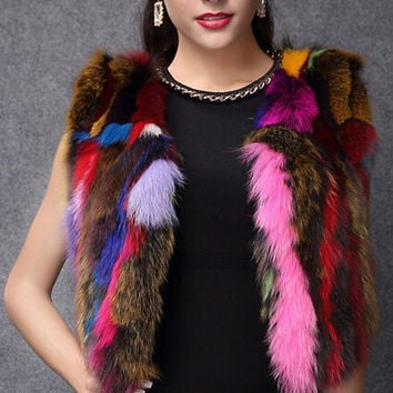Kapa Kapow Faux Fur Sleeveless Jacket