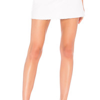 RE/DONE High Waisted Mini Skirt in White | REVOLVE