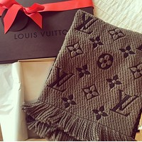 LV Autumn Winter Popular Couple Louis Vuitton Cashmere Cape Scarf Scarves Shawl Accessories