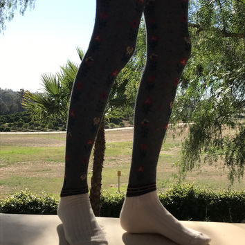 knee high floral socks