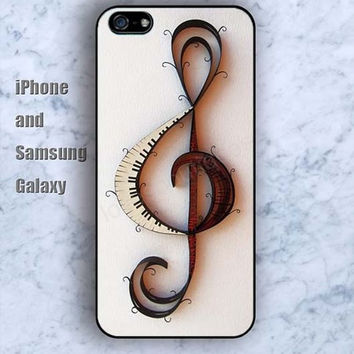 Design Musical notation colorful iPhone 5/5S Ipod touch Silicone Rubber Case, Phone cover