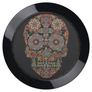 Vintage Flower Sugar Skull USB Charging Station