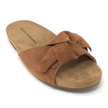 Lucky Brand Florene Macaroon Oiled Suede Sandals