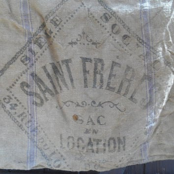 Saint Frères Paris Grain Sack Autenthic French Burlap Lease Bag