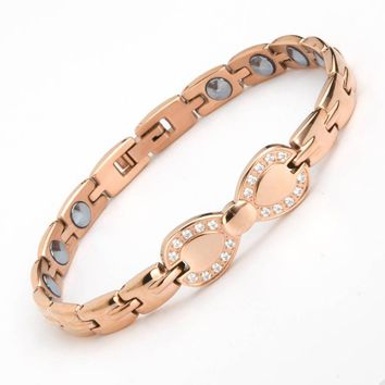 2018 New Fashion Full Pure 99.999% germanium Bracelet 316L Stainless Steel Bracelets For Women Health Therapy Bracelet