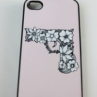 Light Pink Floral Gun Phone Case