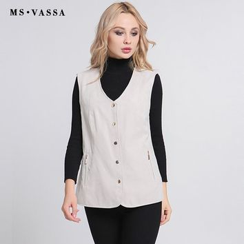 Women Vests New Casual Autumn Spring Female Waistcoat Ladies Sleeveless Jacket Plus Size Outerwear