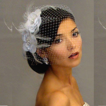 Custom Made Wedding Bridal Veils Tulle White Wedding Bridal Accessories Wedding Veils 2015 Birdcage Veil