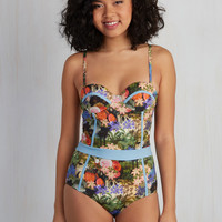 Need I Say Shore? One-Piece Swimsuit in Paradise | Mod Retro Vintage Bathing Suits | ModCloth.com