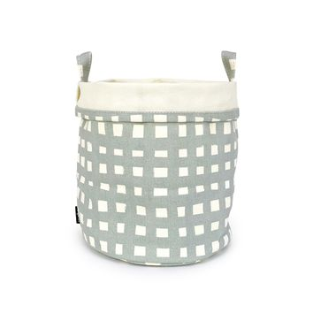 Canvas Bucket - Flores