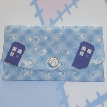Doctor Who TARDIS Plaid, Credit or Business Card Wallet