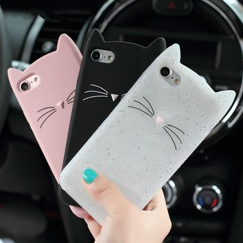 Cute Cat and Whiskers iPhone Smartphone Protectant Case - Phone Cases for Cat Lovers