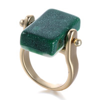 New Arrival Shiny Jewelry Gift Strong Character Stylish Alloy Geometric Resin Simple Design Men Ring [6526907587]