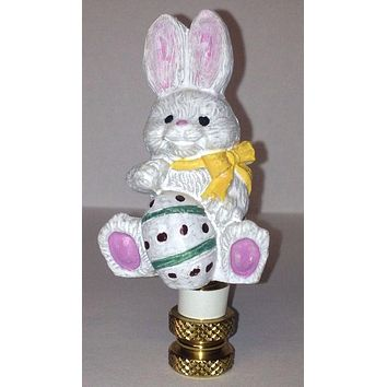 Bunny Rabbit Finial for Lamps for Easter