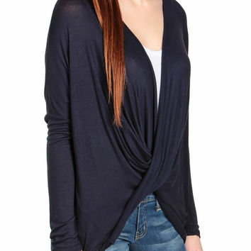 Crossover Draped Top