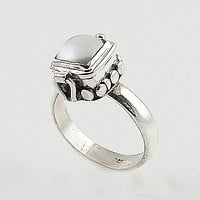 Pearl Sterling Silver Poison Ring