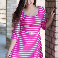 Pink Lovely Lines Dress