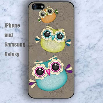 owl colorful cartoon iPhone 5/5S Ipod touch Silicone Rubber Case, Phone cover