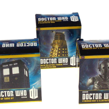 Set of 5 Doctor Who BBC Tardis K-9 Dalek Cyberman Bust 11th Dr Sonic Screwdriver