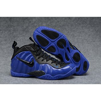 Air Foamposite Pro Royal Blue/Black Basketball Shoe Size 40--47