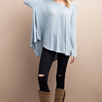 Knit Fly Away V-Neck Tunic (Multiple Colors Available)