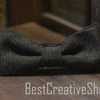 Wool Bow Tie - Wedding Bow Tie / Tweed Bow Tie - Wool Bowtie - Boys Bowtie / Mens Bow Tie / 100% Hand Made - Vintage Bow Tie / Men gift