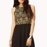 Sweet Floral Combo Dress