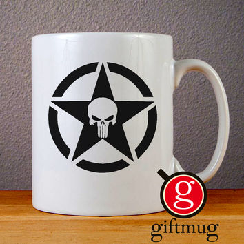 Military Jeep Star Punisher Ceramic Coffee Mugs