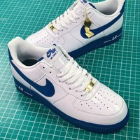 Nike Air Force 1 Low Retro Ct16 Qs Aq42296-1009 White Blue Sport Shoes - Best Online Sale