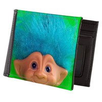 vintage troll doll lime green Mens Wallet