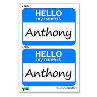 Anthony Hello My Name Is - Sheet of 2 Stickers