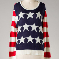 Uncle Sam Sweater [SW0071-ST-17B1-Clone] - $42.99 : Spotted Moth, Chic and sweet clothing and accessories for women