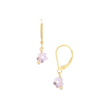 Swarovski Crystal Flower Earrings on 14/20 Gold Filled Leverback Posts by Minigems