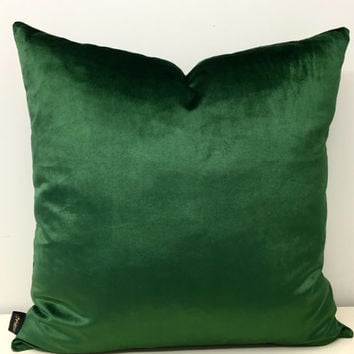 Green Velvet Pillow Cover, Pillows, Green Pillow, Velvet Pillow, Green Velvet Cushion, 18X18 30X30 Throw Pillows, Green Velvet Pillow Covers