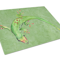 Gecko the lizard Glass Cutting Board