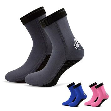 NEW Men Women Diving Socks Boots 3MM Neoprene Water Shoes Swimming Non-slip Beach Boots Booties Snorkeling Diving Surfing Boots