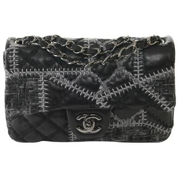 Chanel - Mini Flap Patchwork quilted lambskin