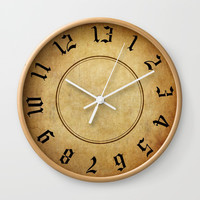 Labyrinth 13 Hour Clock Wall Clock by falln