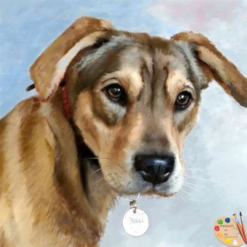 Dog Portrait From Photo 303