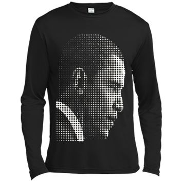 Barack Obama white dot newspaper print T-shirt