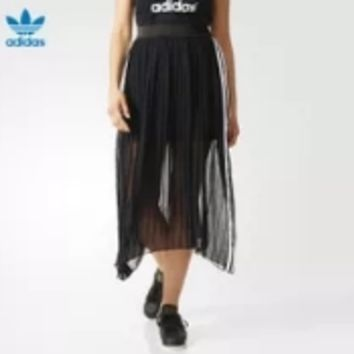 """Adidas"" Women Fashion Casual Gauze Sleeveless Maxi Dress"