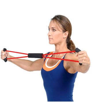 Resistance Training Bands Tube Workout Exercise for Yoga 8 Type Body Building Fitness Equipment Tool Hot Sale