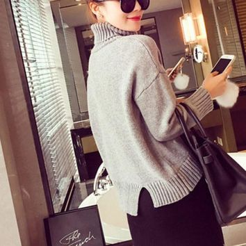 DCCKVQ8 Fashion Thickened Turtleneck pullover Sweater