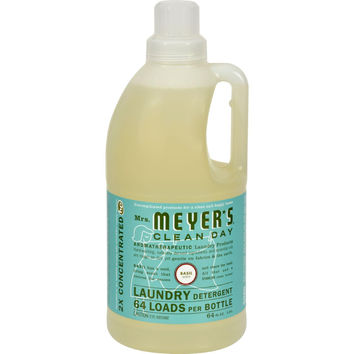 Mrs. Meyer's 2x Laundry Detergent - Basil - 64 Oz