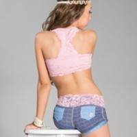 California Kisses LOVELY LACE BASIC CAMISOLE TOP - Whats New